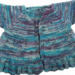 Ruffle Dress Baby Knitting Pattern