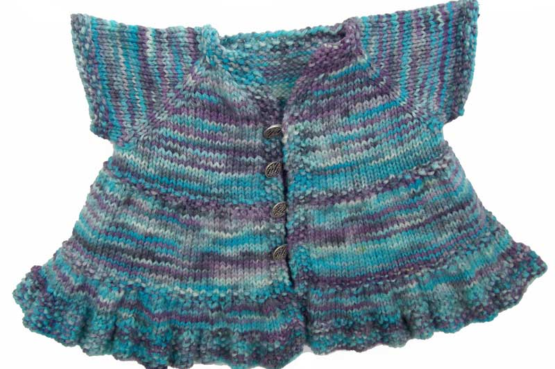 Ruffle Dress Baby Knitting Pattern