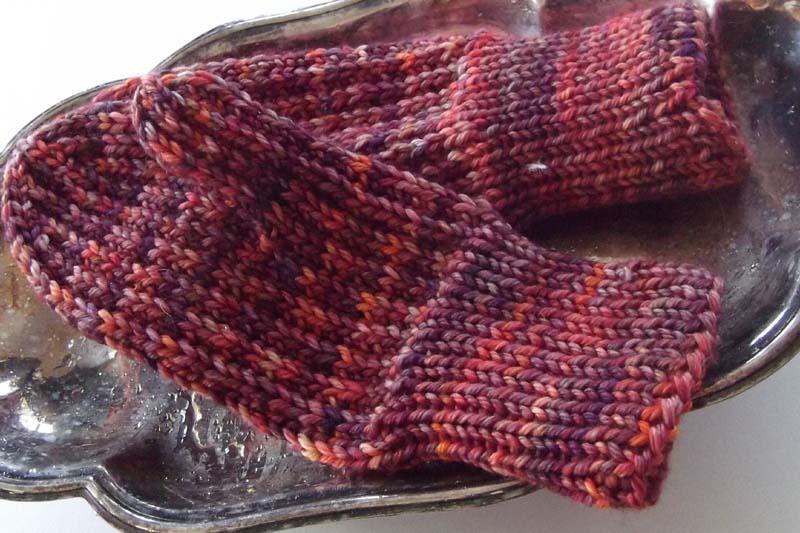 Slip stitch mittens