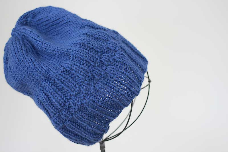 Blue ribbed hat