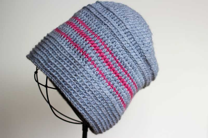 striped crochet hat