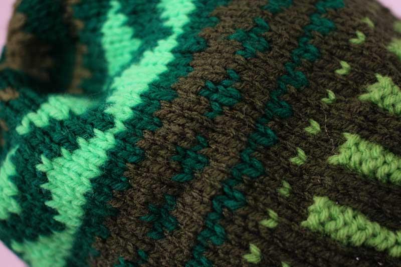 Zig Zag knit hat
