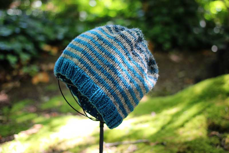Cashmere Tweed Striped Hat (2)