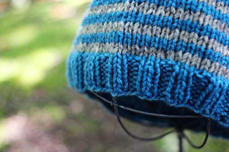 Cashmere Tweed Striped Hat (3)