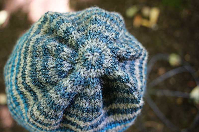 Cashmere Tweed Striped Hat (4)