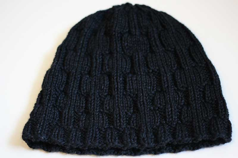 building rectangles knit hat