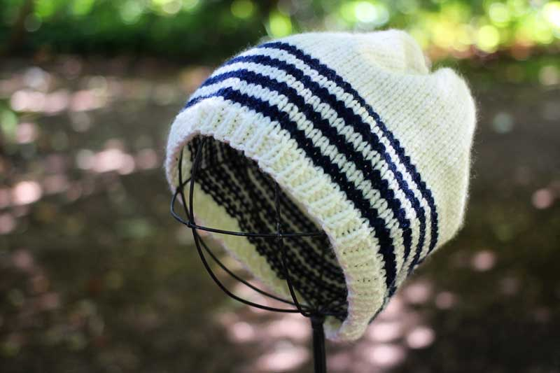 cream sailing knit hat
