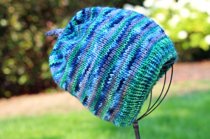 deep blue sea knit hat