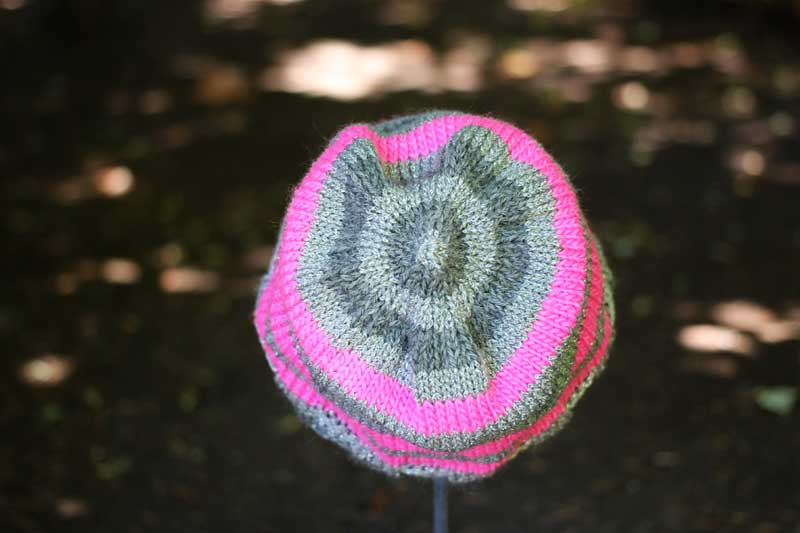 metallic pink knit hat (4)