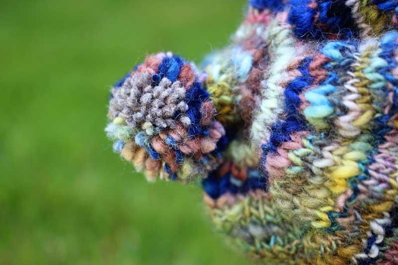 handspun knit beanie in local yarn