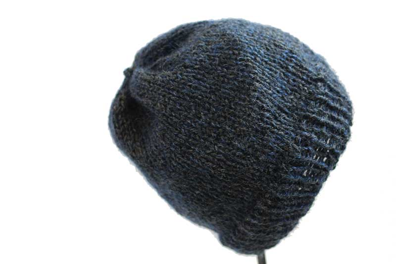 wool, mohair, and silk knit beanie