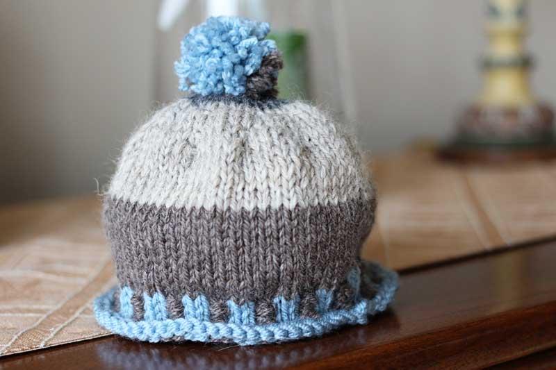woolly pom hat