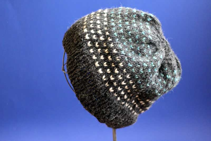 lice pattern colorwork hat