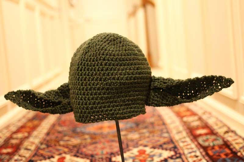 yoda crochet hat
