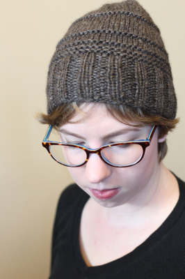 Elevation Hat - Bulky hat knitting pattern by Midnightsky Fibers