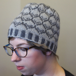 Midnightsky Fibers Knitting Pattern - Colorwork hat in greys