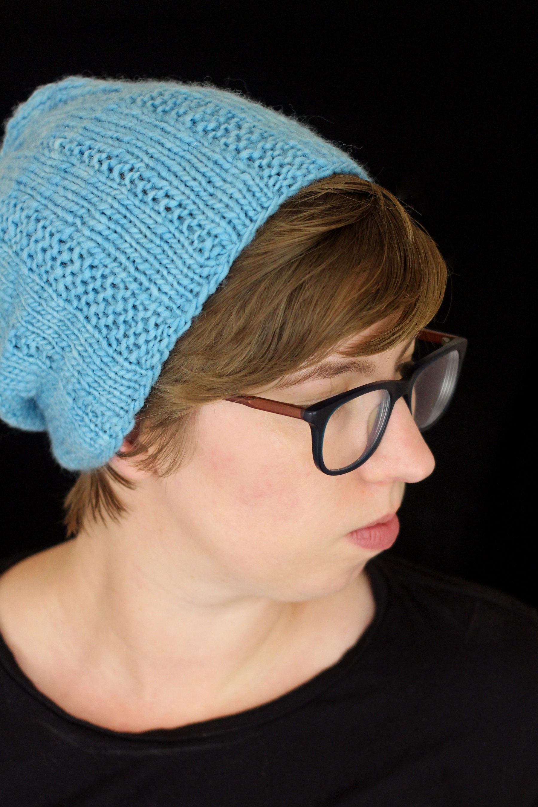 slouchy-hat-knitting pattern